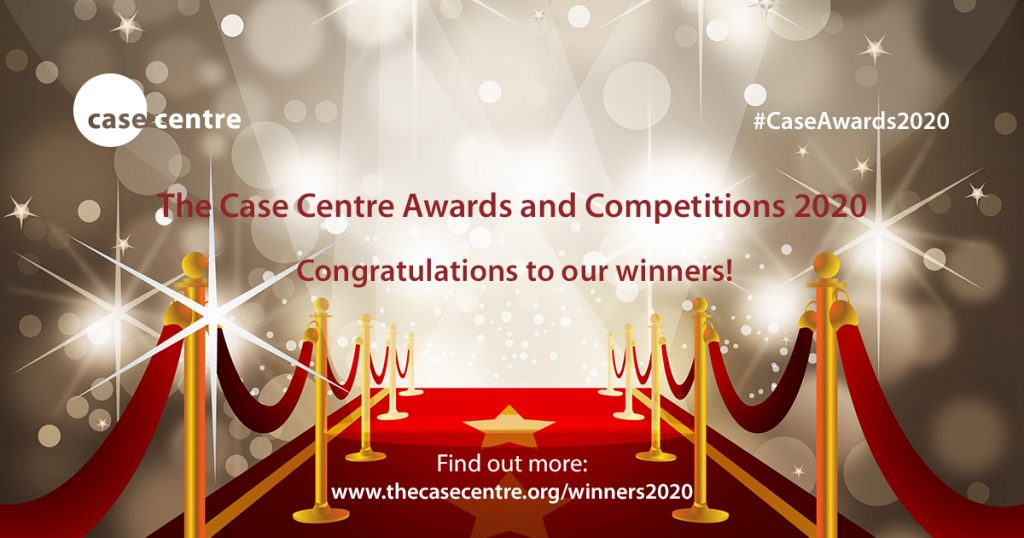 Red carpet leading to The Case Centre Awards and Competitions 2020 results