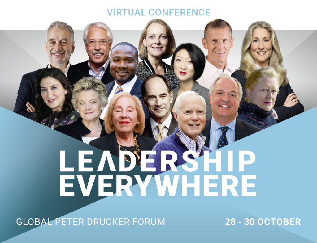 Join Virtually Global Peter Drucker Forum - Leadership Everywhere